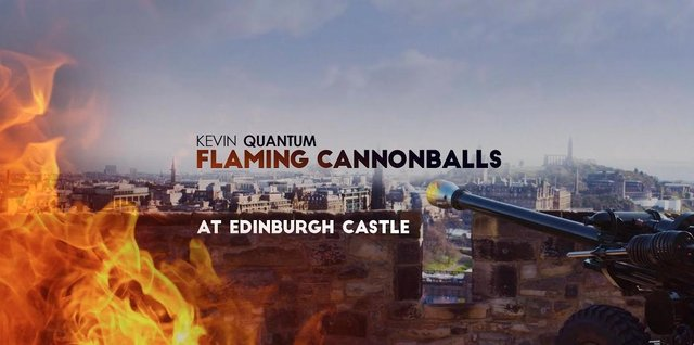 Edinburgh Castle: Watch as scientist and magician Kevin Quantum hosts spectacular stunt at iconic Capital landmark