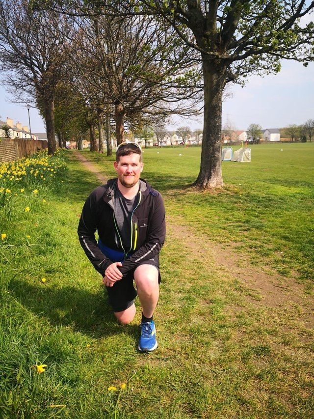 Andrew Harkness walked 24,500 steps a day, every day in April for Fionn Brogan Trust