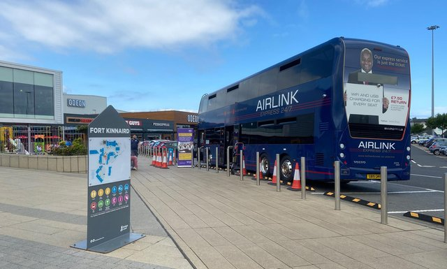 An airlink bus has been converted