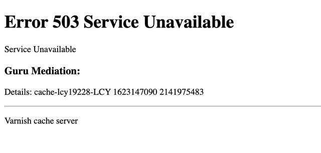 The 'Error 503 Service Unavailable' message appeared across a wide range of sites today as a content delivery network provider was hit with technical issues.