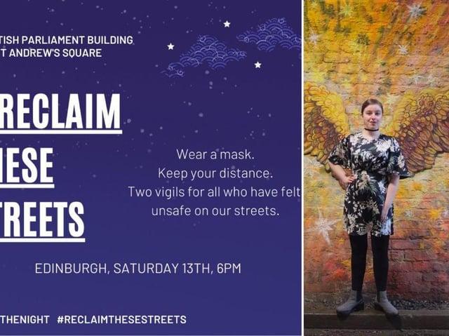 Reclaim These Streets: Edinburgh vigils move online amid coronavirus concerns picture: supplied