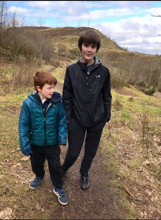 Big brother Dean Gray, 13 said he can see how the cannabis oil is improving his eight-year-old brother Murray Gray's life.