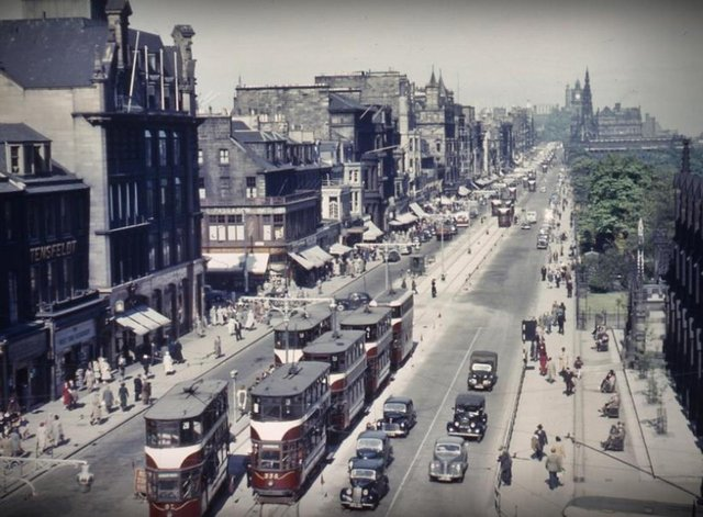 Princes Street has changed a lot down the years.