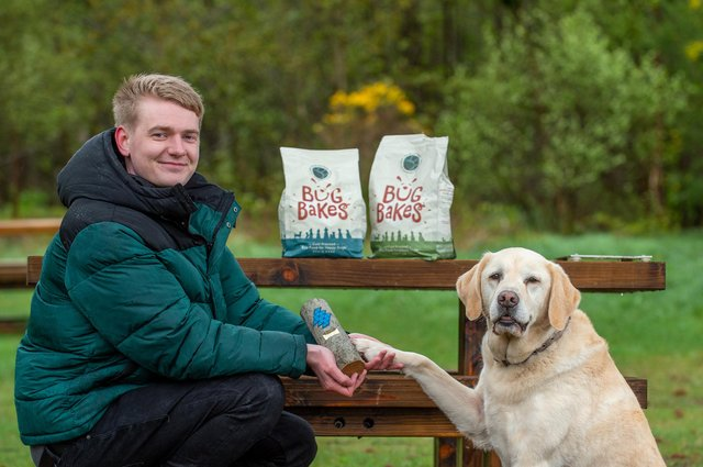 Ross Lamond, founder and chief executive of Bug Bakes: 'It's an amazing honour to have been chosen as a Scottish Edge winner.' Picture: Sandy Young Photography