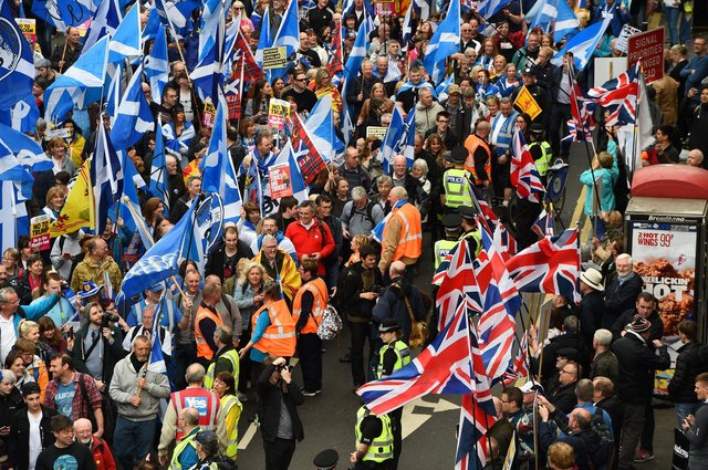 Scotland is split 50:50 on the independence question but needs to be united to ensure recovery from the Covid crisis (Picture: Andy Buchanan/AFP via Getty Images)