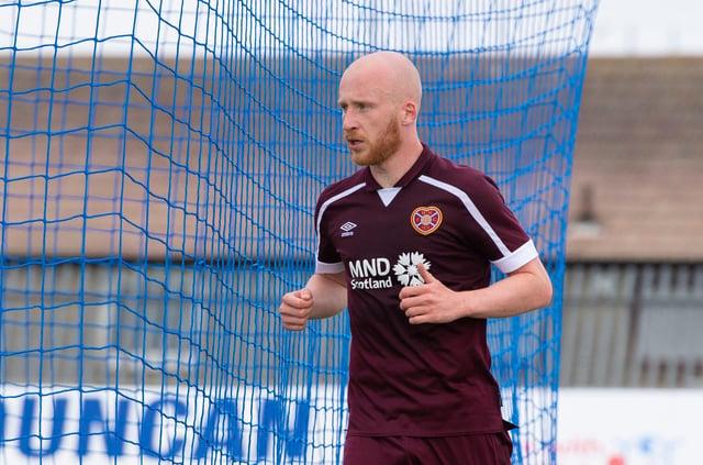 Hearts striker Liam Boyce scored the second goal at Peterhead.