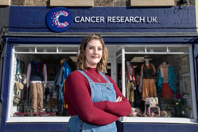 Cancer Research UK shop assistant Lisa Bancroft is recovering from a double mastectomy