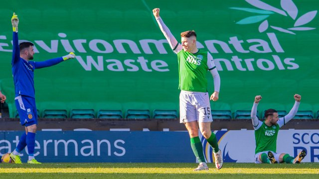 Kevin Nisbet has hit 18 goals for Hibs this season. Picture: SNS