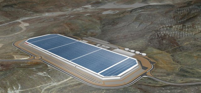 Electric car maker Tesla's gigafactory in Nevada employs 7,000 people. Picture: Tesla