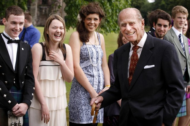 Prince Philip attends the presentation for The Duke of Edinburgh Gold Award holders in 2010 at the Palace of Holyroodhouse in Edinburgh (Photo: Danny Lawson/Getty Images).