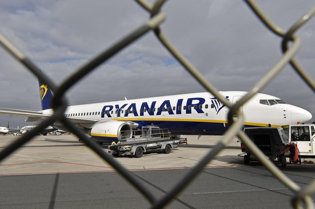 Ryanair, like all airlines, has been laid low by the pandemic, but it is hopeful of a gradual recovery in business this summer as travel restrictions ease. Picture: AP Photo/Martin Meissner
