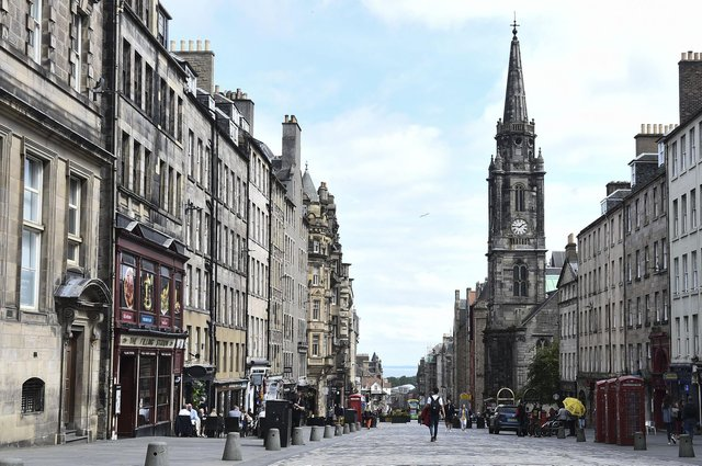 The normally-busy Royal Mile was all but deserted during Edinburgh's peak tourism season this summer.
