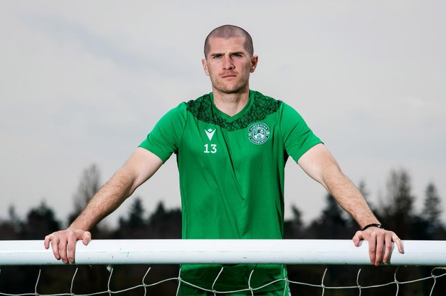 Hibs midfielder Alex Gogic is hoping for a bright finish to the season. Photo by Ross Parker / SNS Group