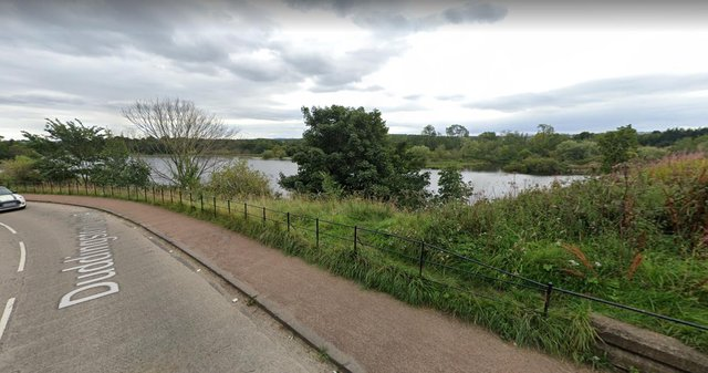 The pair got in to trouble in Duddingston Loch