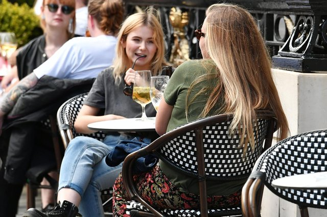 You'll be able to enjoy a drink again from Monday –as long as you are sitting outside