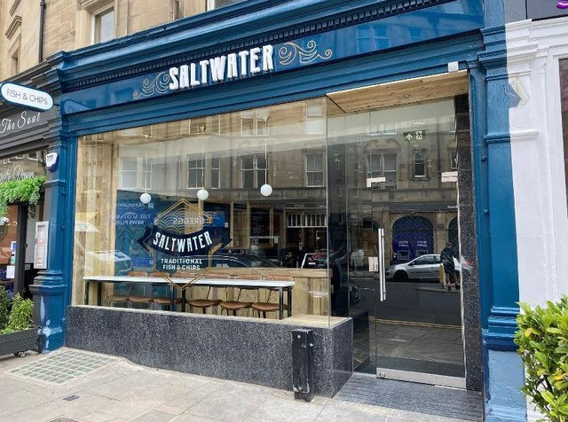 Saltwater is the new name for the newly renovated Globetrotter fish restaurant in Bruntsfield Place.