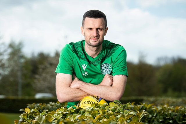 Hibs' Jamie Murphy back in contention as season reaches exciting climax . Photo by Paul Devlin / SNS Group