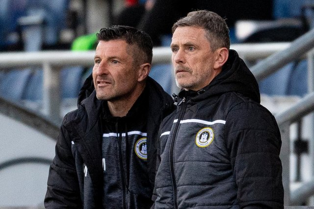 Edinburgh City manager Gary Naysmith and assistant Grant Murray have guided the team into the promotion play-offs (Photo by Ross MacDonald / SNS Group)