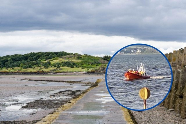 Three people had to be rescued by HM Coastguard after becoming stranded on Cramond Island this afternoon.