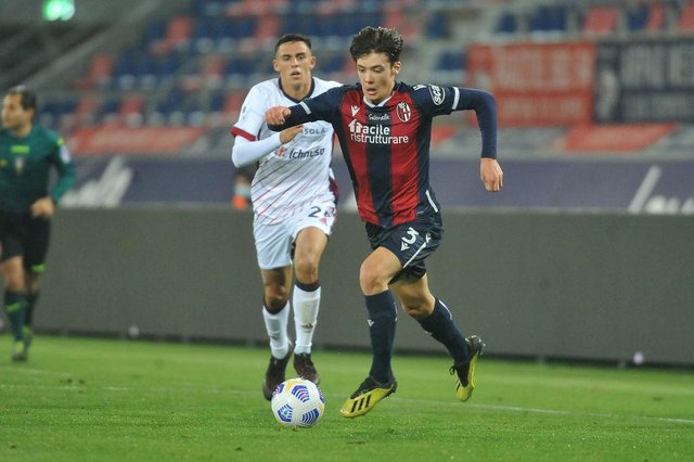 Former Hearts defender Aaron Hickey has played 12 times for Bologna this season, 11 of which came in Serie A. Picture: Getty