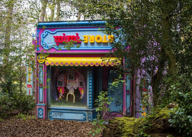 Rachel Maclean's new outdoor sculpture for Jupiter Artland opens to the public on Saturday. Picture: Lisa Ferguson