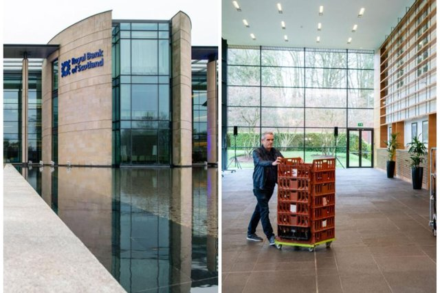 RBS Edinburgh headquarters becomes foodbank distribution centre