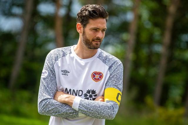 New Hearts captain Craig Gordon dons the armband.