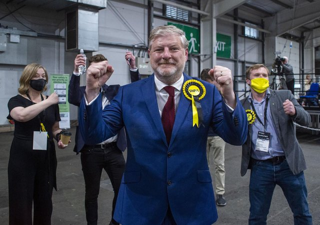 SNP Angus Roberston wins for Edinburgh Central, taking the seat from Scottish Conservatives. Picture: Lisa Ferguson