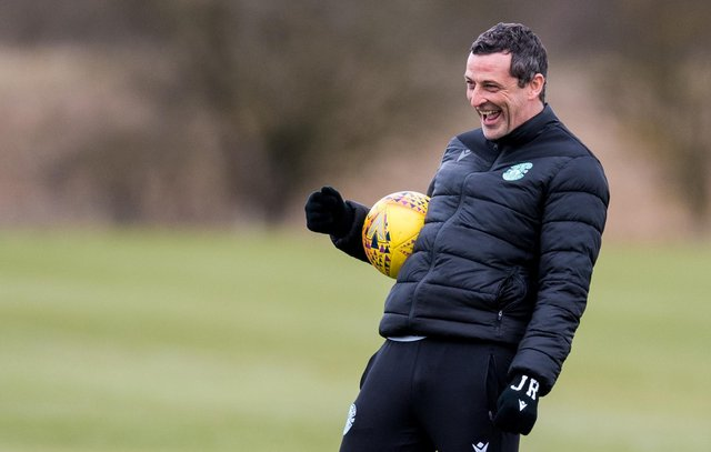 Hibs manager Jack Ross is proud of the way the club has rolled with the punches, on and off the field, throughout a tough year. Photo by Ross Parker / SNS Group