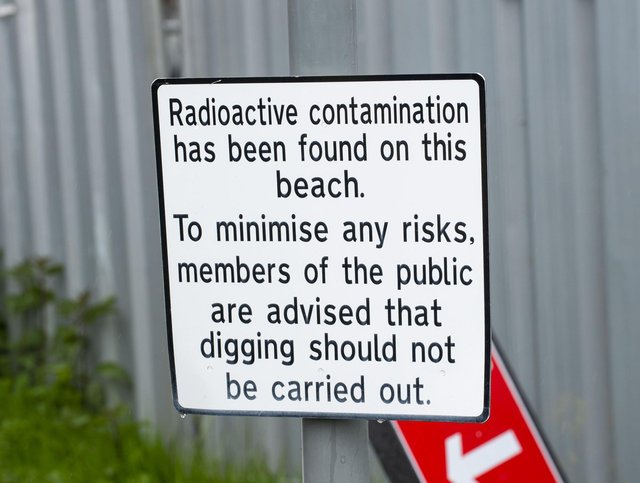 Part of the foreshore at Dalgety Bay has been off limits to the public since 2011 due to the health risks posed by radioactive debris