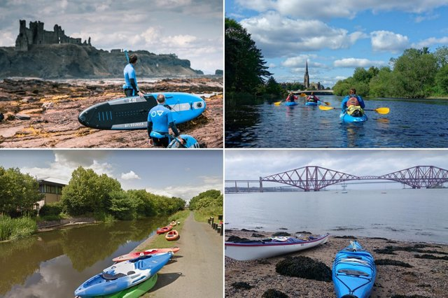 A few of the places you can enjoy trying watersports near Edinburgh.