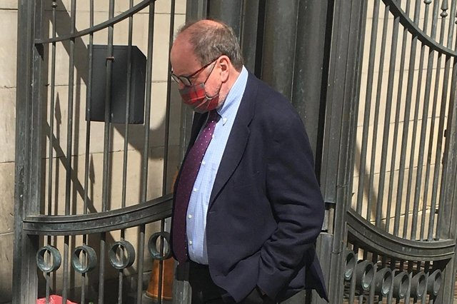 BBC radio presenter James Naughtie leave court