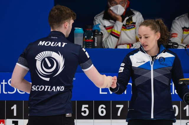 Bruce Mouat and Jen Dodds beat Canada 7-4 to reach the final of the World Mixed Doubles Championship in Aberdeen. Picture: Celine Stucki/WCF