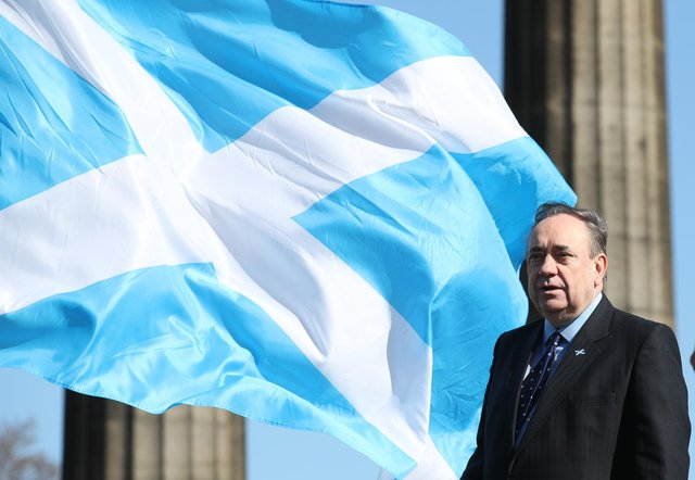 Alex Salmond was speaking at an Alba campaign event in the Scottish capital despite opposing parties suspending their operations out of respect for Philip's passing.
