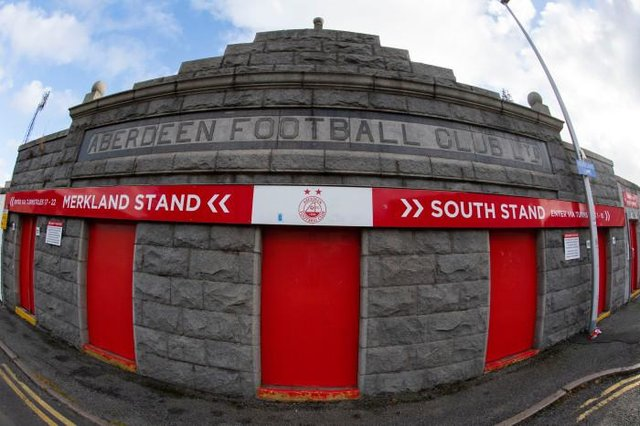 Pittodrie has been offered up as a potential alternative to Hampden. (Photo by Craig Foy / SNS Group)