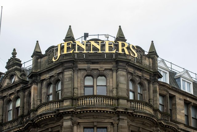 The iconic Jenners building on Princes Street founded as Kennington & Jenner in 1838 by Charles Jenner