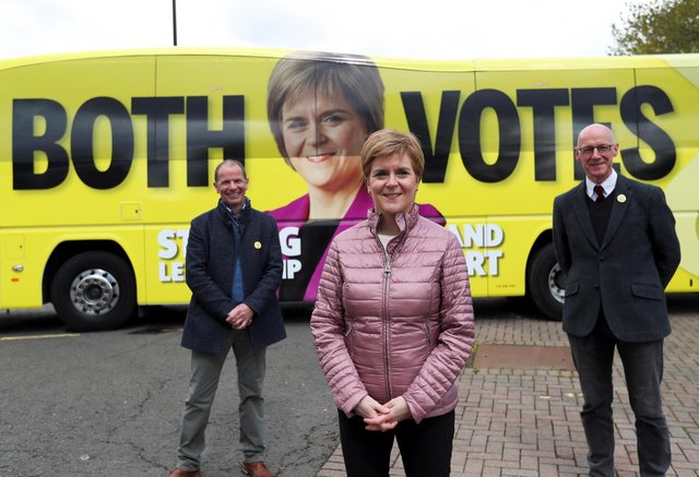 SNP leader and First Minister Nicola Sturgeon spreads the election message