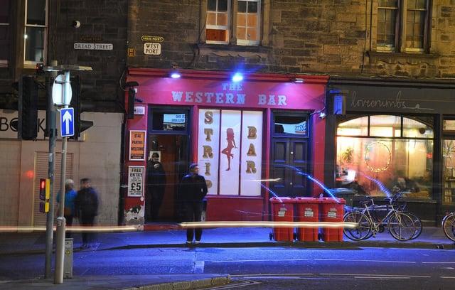 A city strip bar