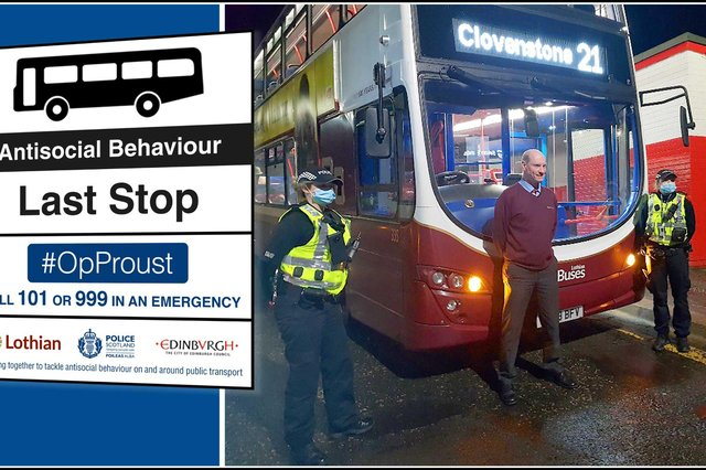 Police Scotland and Lothian Buses are working together as part of Operation Proust to deter antisocial behaviour, following an upsurge in incidents across Edinburgh in recent months.