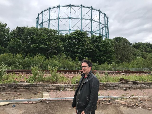 Hidden Door creative director David Martin at the site for this year's festival in September.