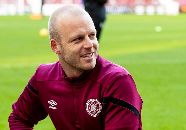 Hearts captain Steven Naismith is due to collect the Championship trophy on Saturday.
