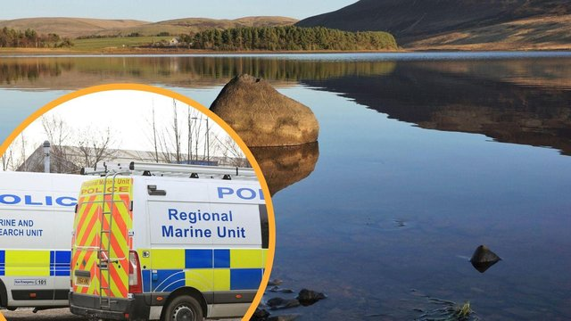 Police Scotland's Dive and Marine Unit remain at the scene.