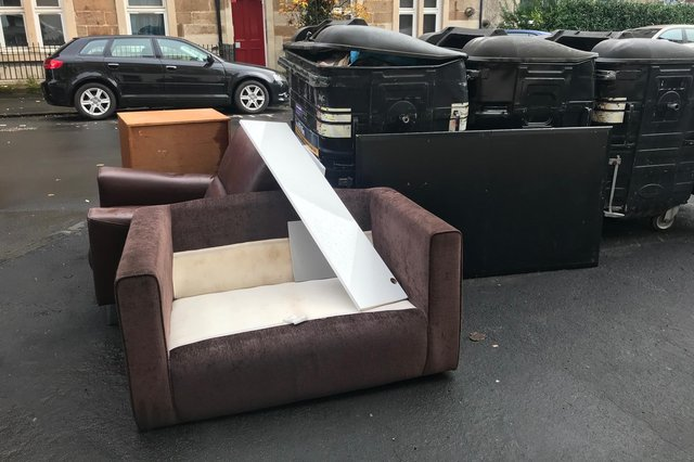 Fly tipping and dumping is rampant in the Gorgie-Dalry community