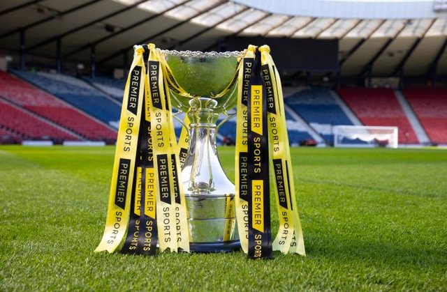 The Scottish League Cup is sponsored by Premier Sports. (Photo by Alan Harvey / SNS Group)