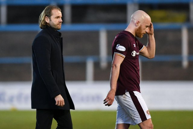 Hearts fans were far from impressed with the performance v Morton. Picture: SNS