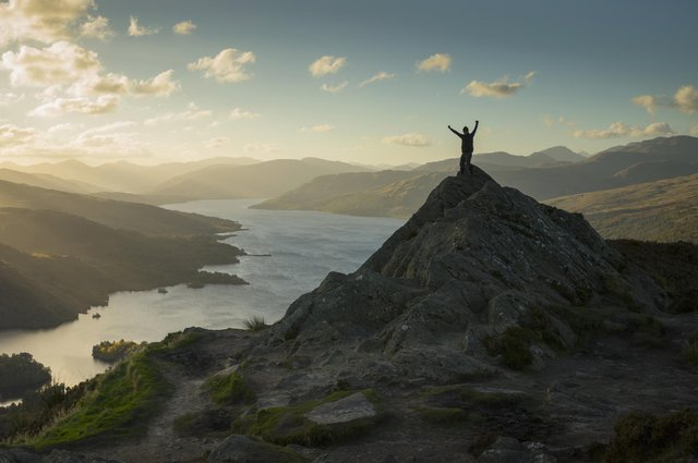 Ben A-an in the Loch Lomond and Trossachs National Park with views over Loch Katrine. Picture: VisitScotland/Kenny Lam