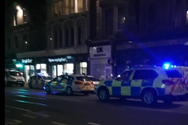 An eye witness said that the response from the police seemed 'dramatic' as they counted 12 police cars including a couple of plain clothes officers attending the scene on Shandwick Place on April 15.