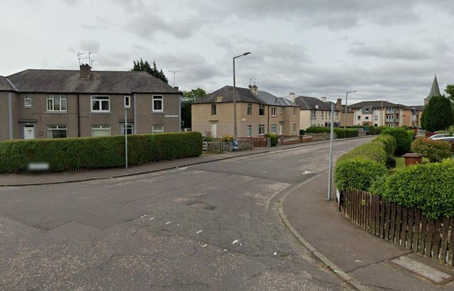 It is believed the attacker had got into the vehicle and drove at the other man in Stenhouse Street West. Pic: Google