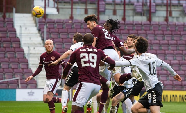 The win over Ayr was a slog at times for Hearts. Picture: SNS