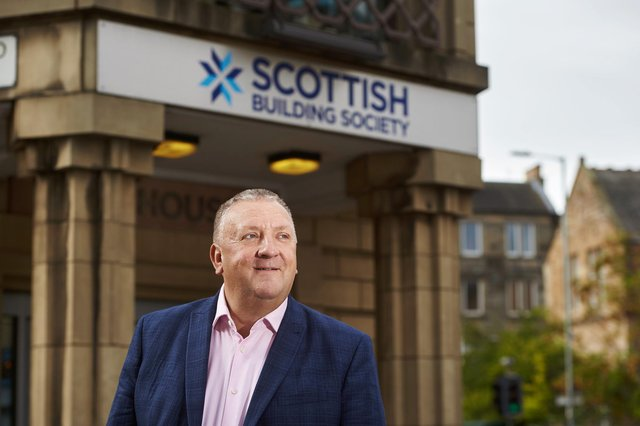 Scottish Building Society chief executive Paul Denton at the offices in Edinburgh. Picture: Malcolm Cochrane Photography